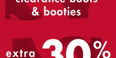 Extra 30% Off Clearance Boots And Bootie...