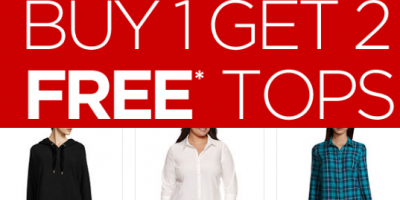 JCPenney – Buy 1 Get 2 Free Tops!