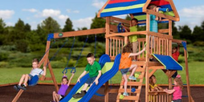 $449 (was $649) Beach Front Wooden Cedar Swing Set