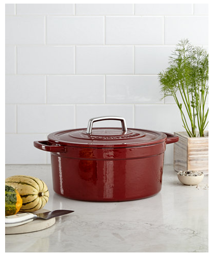 $49.99 (was $179.99) Enameled Cast Iron 6 Qt. Round Dutch Oven