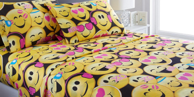 Starting At $11.99 (was $59.99+) Emoji Collection Microfiber Sheet Set