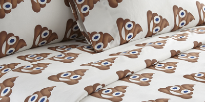 Starting at $12.99 (was $79.99+) Emoji Poop Sheet Set
