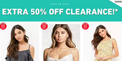 Forever 21 Clearance Sale Extra 50% Off