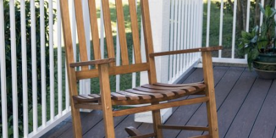 $64 (was $77) Mainstays Outdoor Natural Wood Slat Rocking Chair