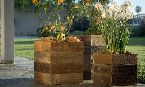 Starting At $29.99 (was $69.99+) Pacific Royal Reclaimed Wood Square Planter Boxes