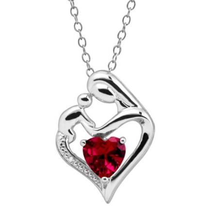 $17.99 (was $89) Ruby Mother & Child Pendant