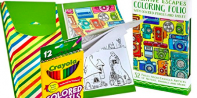 Crayola Creative Escapes Aged Up Coloring Folio with Pencils up to 67% off!