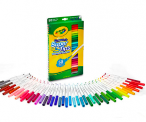 Crayola® Super Tips Washable Markers, 50 Count: $4.00 SHIPPED