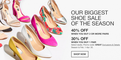 Up To 40% Off Shoes At Macy's