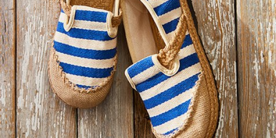 $16.79 (was $50) Sunny Striped Espadrilles Shoes