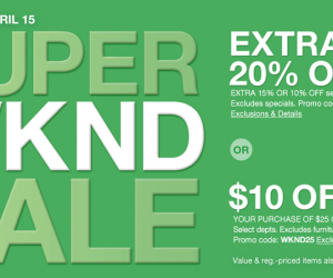 Macy's Super Weekend Sale Up To Extra 20% Off