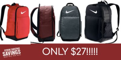 $27 (was $55) Nike Brasilia Extra-Large Training Backpack
