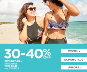 Swimsuits Up To 40% Off At JCPenney