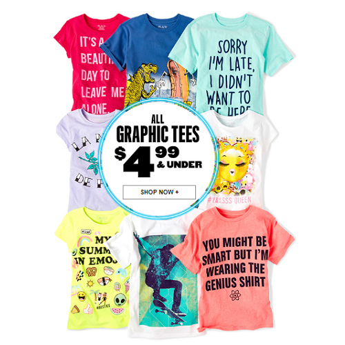 $4.99 And Under Kids Graphic Tees