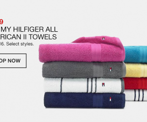 $4.99 (was $16) Tommy Hilfiger Towels