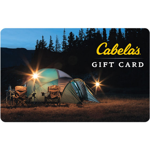 $80 (was $100) $100 Cabela's Gift Card