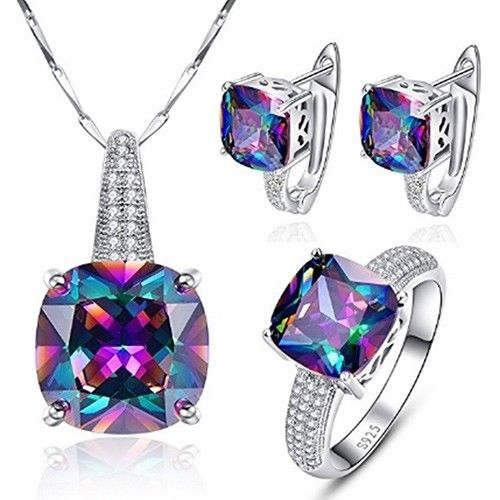 $19.99 (was $179.99) Gemstone Mystic Topaz Jewelry Set