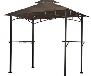 8′ X 5′ Soft Top Brown Double Tiered Canopy Grill Gazebo $99.99 (was$154.99)