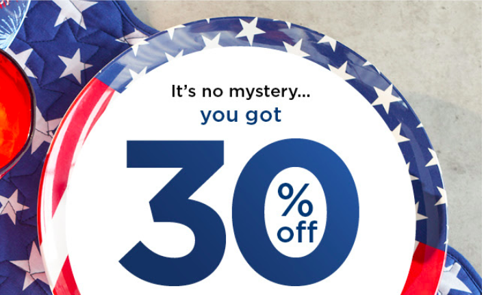 Kohl's Mystery Coupon: Up to 40% off of your Order