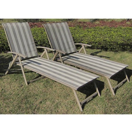 $67 (was $89) Mainstays Fair Park Sling Folding Lounge Chairs, Set of 2
