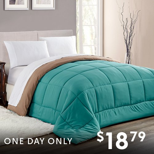 $18.79 (was $49.99) Reversible Down-Alt Comforters