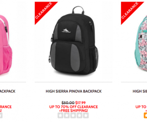 High Sierra Backpack and Lunch Box Sale | Prices Starting at $8.99