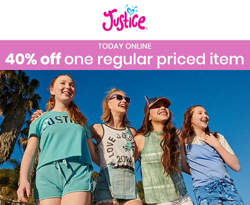 40% Off At Justice (Today Only)