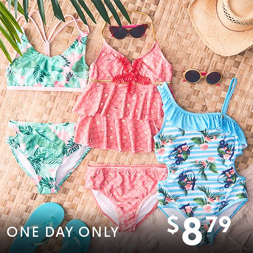 $8.79 (was $50) Girls Swimsuits