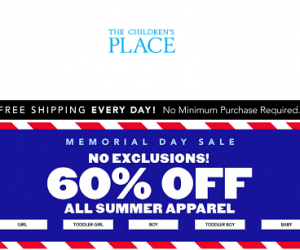 60% Off Summer Apparel At The Children's Place