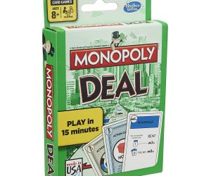 Monopoly Deal Card Game: $4.99 (was$9.89)
