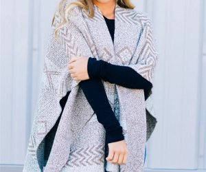 $16.99 (was $44) Multi Pattern Poncho