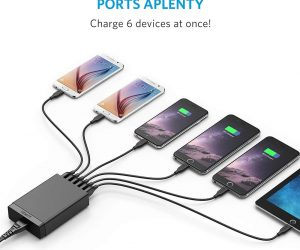 Anker 6-Port USB PowerPort Charger: $11.99 (was $19.99)