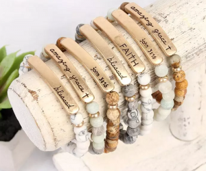 $4.99 (was $20) Natural Stone Religious Bracelets