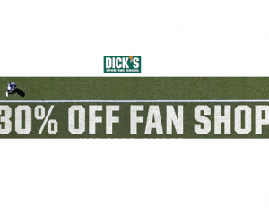 30% Off Fan Shop Today At Dick's Sporting Goods