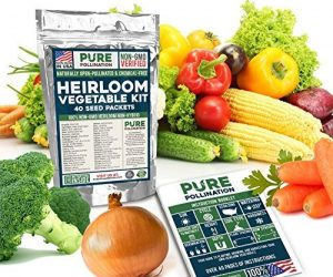Non GMO Heirloom Vegetable Seeds – 40 Packs: $13.98 (was $39.99)
