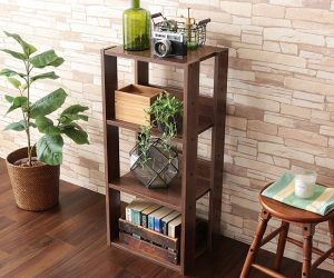 IRIS USA 3-Tier Open Wood Bookshelf, Dark Brown: $25.19 (was $41.99)