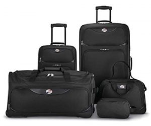 American Tourister 5-Piece Softside, Black: $64.99 (was $99.99)