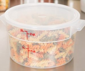 Cambro 3-pack 2-Quart Round Food Storage Containers with Lid: $10.99 (was $21.60)