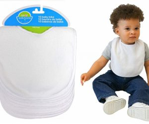 Neat Solutions 10 Pack Solid Knit Terry Feeder Bib Set: $7.39 (was $12.99)