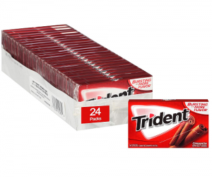 Trident Sugar Free Gum Cinnamon, 14 piece pack: $8.69 (was $15.81)