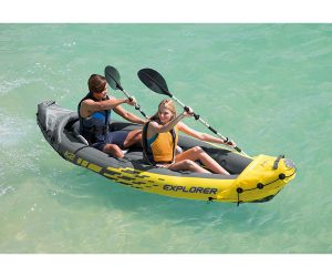 Intex Explorer K2 2-Person Inflatable Kayak with Aluminum Oars and High Output Air Pump: $75.00