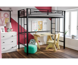 $119 (was $149): YourZone Metal Loft Bed