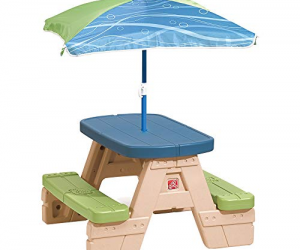 Step2 Sit and Play Kids Picnic Table With Umbrella: $34.38 (was $49.99)