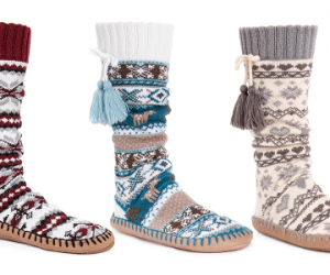 $14.99 (was $22) Muk Luks Women's Tall Slipper Socks
