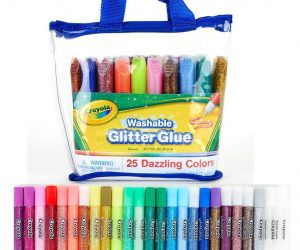 Crayola 25 Washable Glitter Glues in Pouch: $9.35 (was $12.99)
