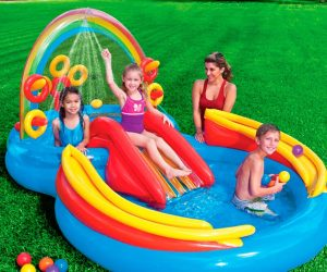 Intex Rainbow Ring Inflatable Water Play Center: $40.99 (was$59.99)