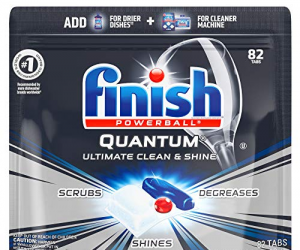 Finish Quantum Dishwasher Detergent Tabs 82 Count: $10.54 (was $16.47)