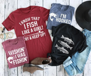 $13.99 (was $27.99) Fishing Tees