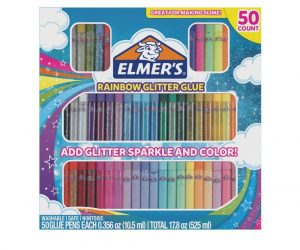 50 Count Elmer's Rainbow Glitter Glue Pens: $8.59 (was $15.03)