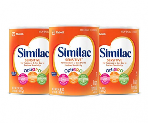 Similac Sensitive Infant Formula with Iron (Pack of 3): $41.67 (was$92.61)